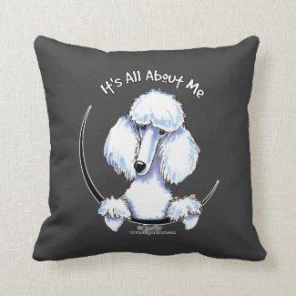 White Standard Poodle IAAM Pillows