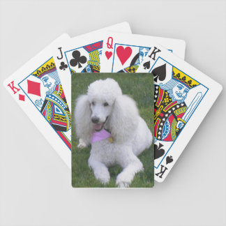 White Standard Poodle Playing Cards