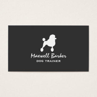 White Standard Poodle Silhouette Business Card