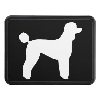 White Standard Poodle Silhouette (Lamb Cut) Hitch Cover