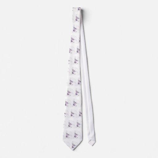 White Standard Poodle Tie