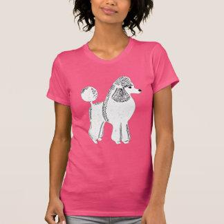 White Standard Poodle Women's Fuchsia T-Shirt