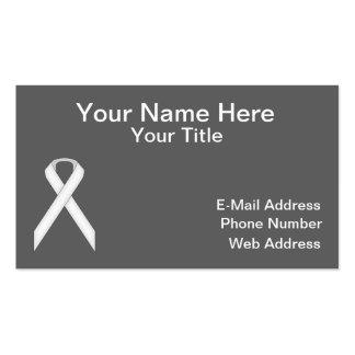 White Standard Ribbon Business Card