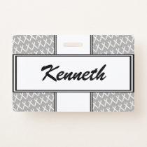 White Standard Ribbon by Kenneth Yoncich Badge