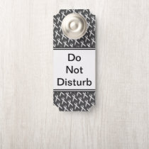 White Standard Ribbon by Kenneth Yoncich Door Hanger