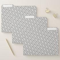 White Standard Ribbon by Kenneth Yoncich File Folder