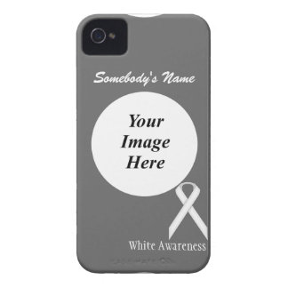 White Standard Ribbon by Kenneth Yoncich iPhone 4 Cover