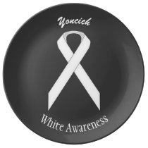 White Standard Ribbon by Kenneth Yoncich Plate