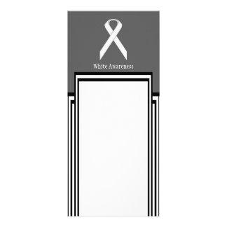 White Standard Ribbon by Kenneth Yoncich Rack Card