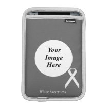 White Standard Ribbon by Kenneth Yoncich Sleeve For iPad Mini