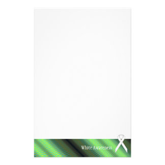 White Standard Ribbon by Kenneth Yoncich Stationery