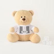White Standard Ribbon by Kenneth Yoncich Teddy Bear