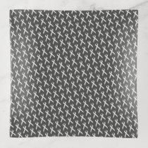 White Standard Ribbon by Kenneth Yoncich Trinket Trays
