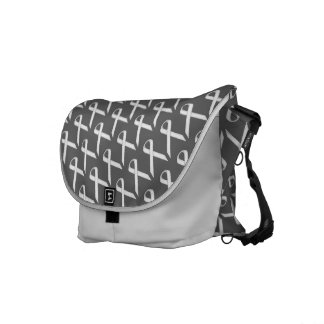 White Standard Ribbon Courier Bag
