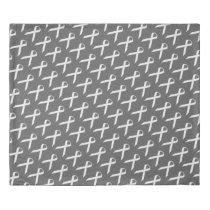 White Standard Ribbon Duvet Cover