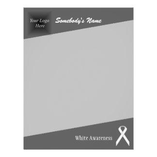White Standard Ribbon Letterhead