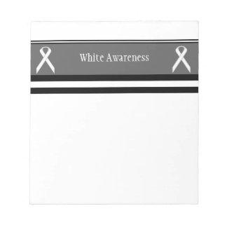 White Standard Ribbon Notepad
