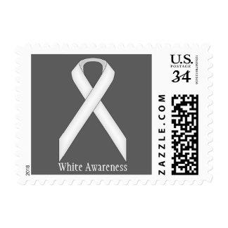White Standard Ribbon Postage
