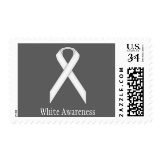 White Standard Ribbon Postage Stamp