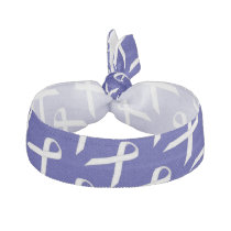 White Standard Ribbon Template by Kenneth Yoncich Hair Tie