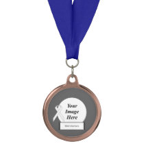 White Standard Ribbon Template by Kenneth Yoncich Medal