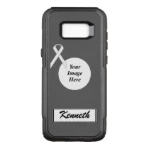 White Standard Ribbon Template by Kenneth Yoncich OtterBox Commuter Samsung Galaxy S8  Case