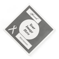 White Standard Ribbon Template by Kenneth Yoncich Paper Dinner Napkin