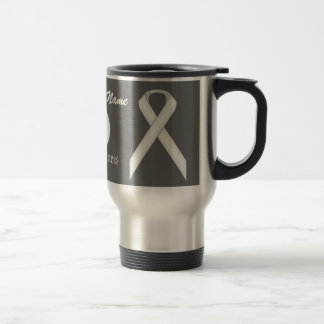 White Standard Ribbon Template by Kenneth Yoncich Travel Mug