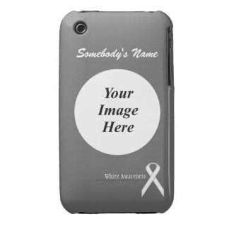 White Standard Ribbon Template Case-Mate iPhone 3 Case