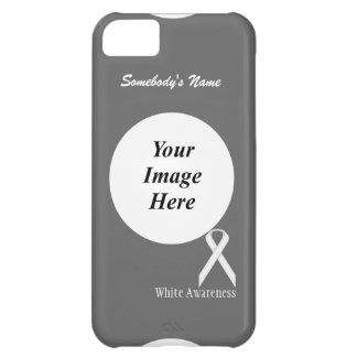 White Standard Ribbon Template iPhone 5C Cover