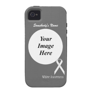 White Standard Ribbon Template iPhone 4/4S Cover