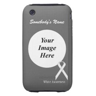 White Standard Ribbon Template iPhone 3 Tough Case