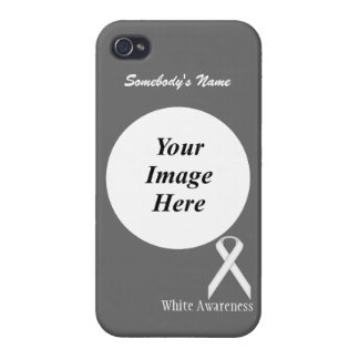 White Standard Ribbon Template Cases For iPhone 4