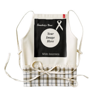White Standard Ribbon Template Zazzle HEART Apron
