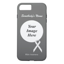 White Standard Ribbon Tmpl by Kenneth Yoncich iPhone 8 Plus/7 Plus Case