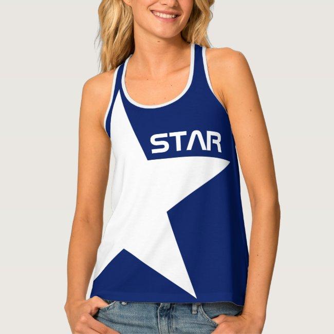 White Star blue background customizable