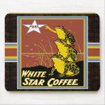 White Star Coffee Frog Mousepad
