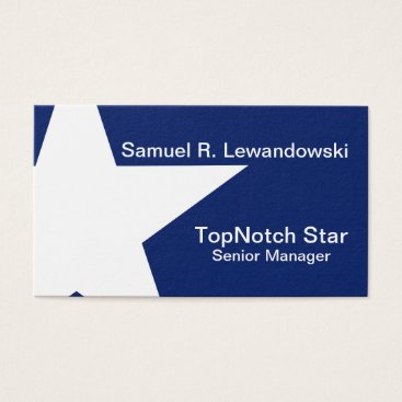 Professional Business White Star Elegant customizable Business Card