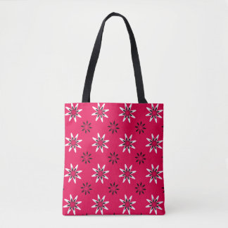 White Star Flower Tote Bag