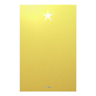 White Star Gold Paper Stationery Design