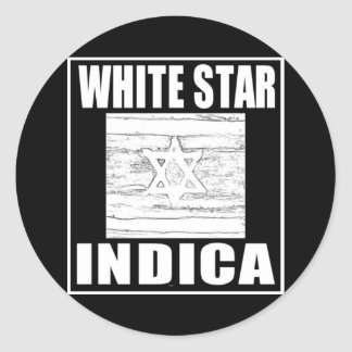 WHITE STAR INDICA STICKER