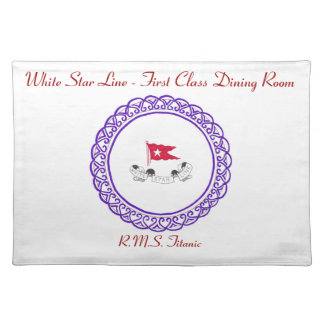White Star Line - First Class Dining Room Placemat Cloth Place Mat