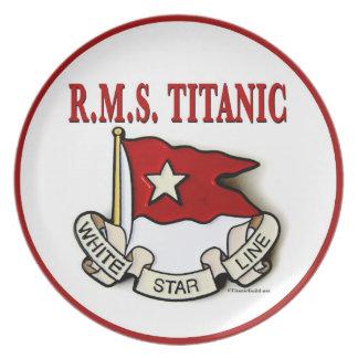 White Star Line: Kitchen: Plate w/Red Border
