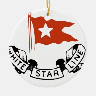 White Star Line Logo Ceramic Ornament