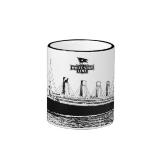 White Star Line Ringer Coffee Mug