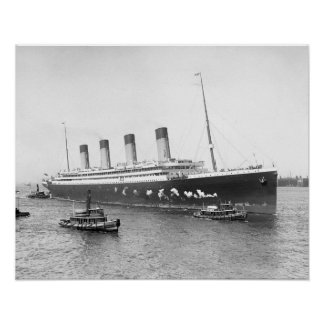 White Star Line RMS Olympic, 1911. Vintage Photo Poster
