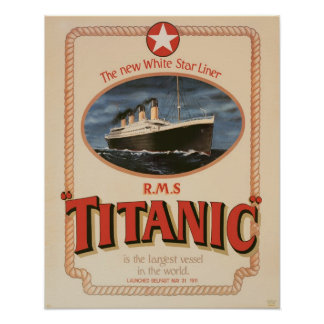White Star Line RMS Titanic Poster