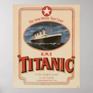 White Star Line RMS Titanic Poster