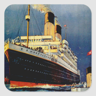 White Star Line Square Sticker