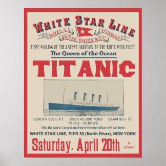 WHITE STAR LINE (Titanic) Print